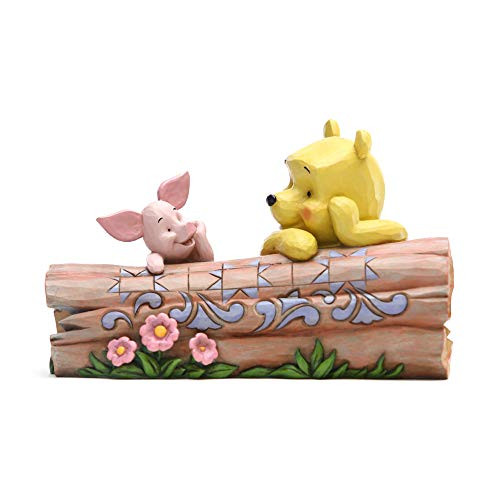 Enesco Disney Traditions by Jim Shore Pooh and Piglet by Log Figurine 6005964
