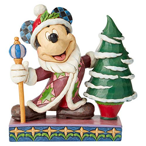 Enesco Disney Traditions by Jim Shore Mickey Mouse Father Christmas Figurine, 7.5 Inch, Multicolor