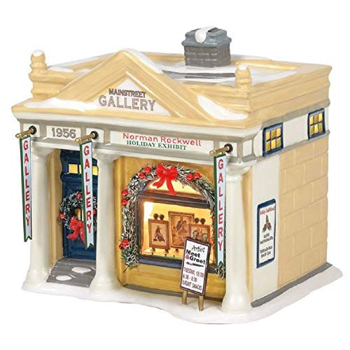 D56 Original Snow Village Rockwell's Holiday Exhibit Lighted Buildings 6005450