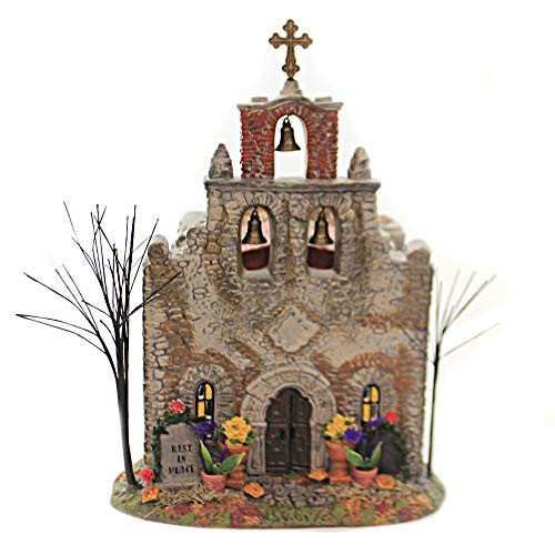 Department 56 Snow Village Halloween Day of The Dead Church, 10.75 in H 6005478