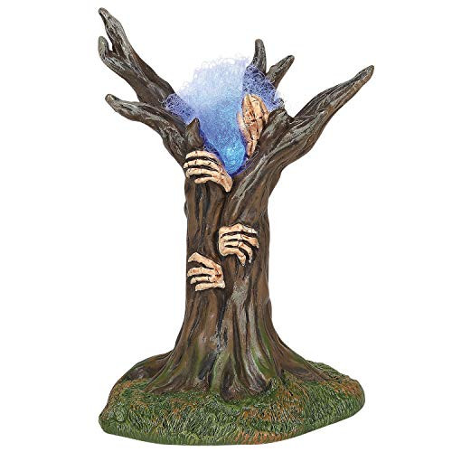 Department 56 Village Collection Accessories Halloween Haunted Tree Figurine Set, 5.25 Inch, Multicolor