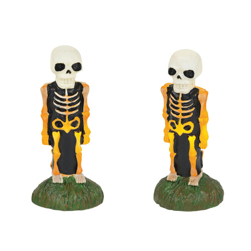 D56 Halloween Accessories Collections Lit Skeleton Yard Décor Village Lights