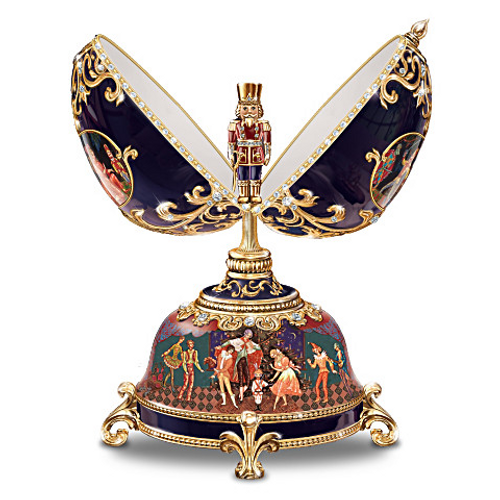 Bradford Limited-edition Peter Carl Russian Nutcracker Musical Faberge-style Egg