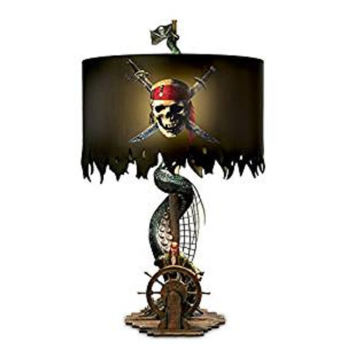 Bradford Exchange Disney Pirates of The Caribbean Jack Sparrow Lamp with Kraken