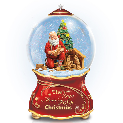 Bradford Exchange Thomas Kinkade The True Meaning of Christmas Water Globe