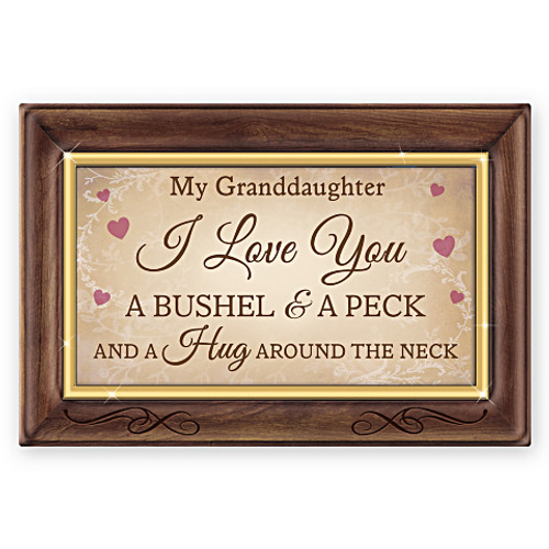 Bradford Exchange Granddaughter, I Love You A Bushel And A Peck Music Box