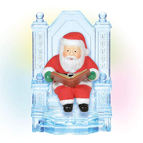 Department 56 Village Accessories Ice Castle Santa on Throne Lit Fig 6005440 NEW