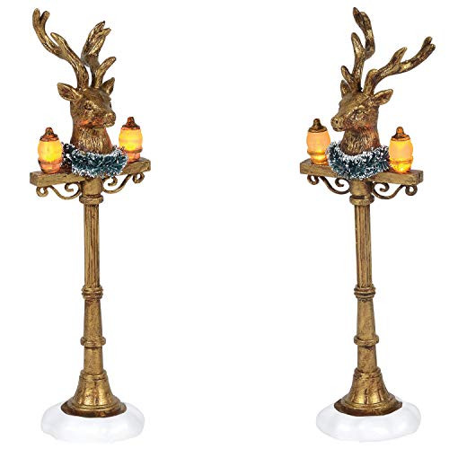 Department 56 Village Collection Accessories Reindeer Lit Street Lights 6005532