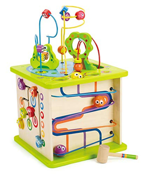 Hape Country Critters Wooden Activity Play Cube Toddler Gift **NEW IN BOX**