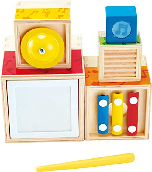 ODYSSEY Hape Stacking Music Set   Colorful 6 Piece Musical Box Toy NEW
