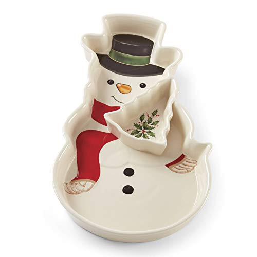 Lenox Holiday Snowman Chip & Dip 886863 New in Box