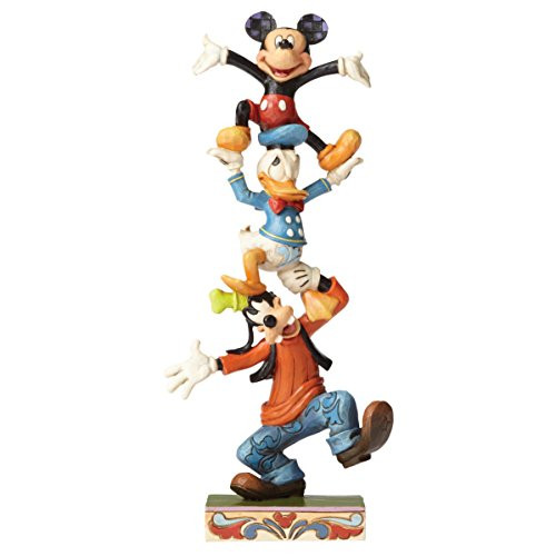 Jim Shore Disney Traditions Goofy, Donald and Mickey Stacked Figurine 4055412