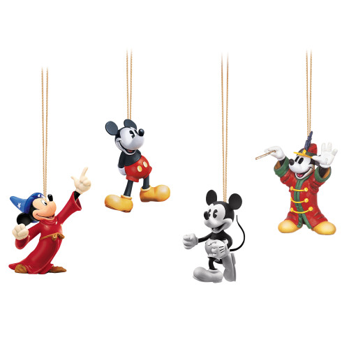 Bradford Exchange Mickey Through the Years Hanging Ornaments