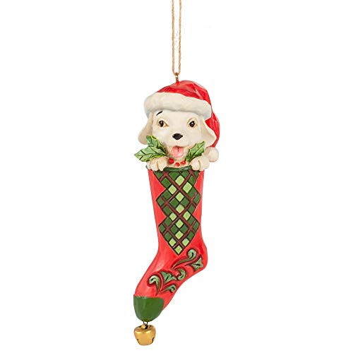 Enesco Country Living by Jim Shore Dog in Stocking Hanging Ornament 6007450