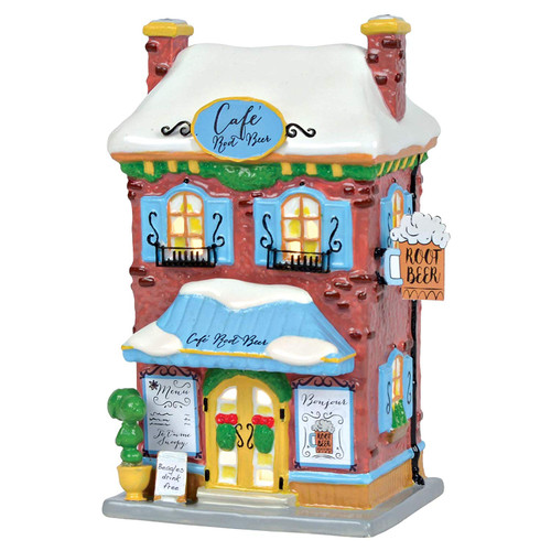 "Department 56 Peanuts Village Snoopy's Root Beer Café Lit Building, 8.25"", Multicolor"