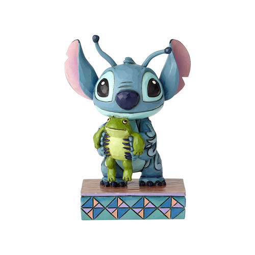 """Disney Traditions Stitch with Book Stone Resin Figurine 5.75/"""""""