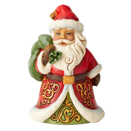 Heartwood Creek by Jim Shore 6004291 Pint Size Santa with Bag Figurine, 5.12 inches
