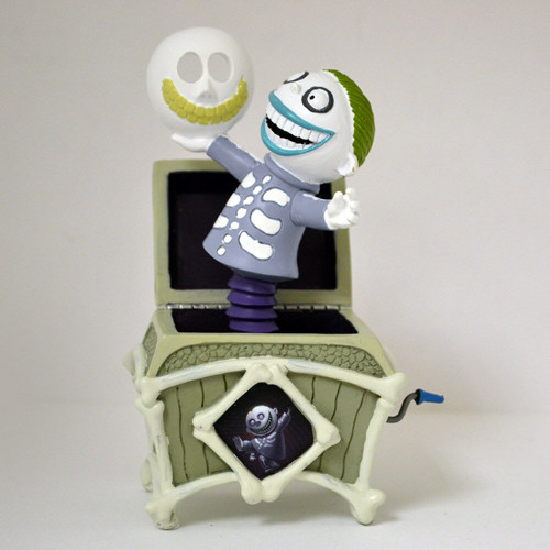 "Tim Burton The Nightmare Before Christmas ""Barrel"" In The Box Jack Figurine NEW"