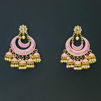 Jaipur Earrings Pink
