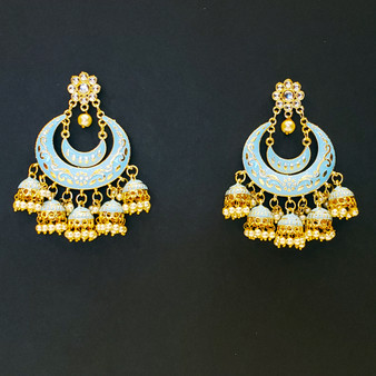 Jaipur Earrings Sky Blue