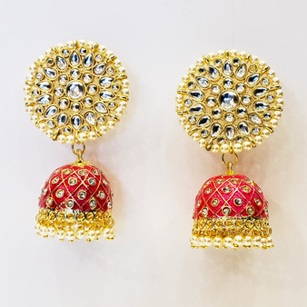 Fancy Jhumka Red