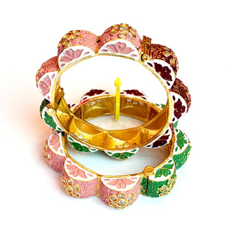 Multi Khada Bangle Handcreafted  Size 2.6 can fit sizes 2.4 to 2.8.