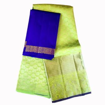 Kanchi- Half Saree set Mint/Royal