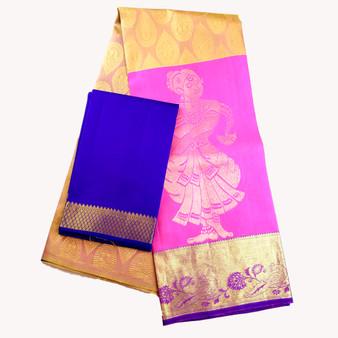 Kanchi- Half Saree set Pink/Peach