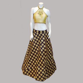 Emb Des  skirt LB