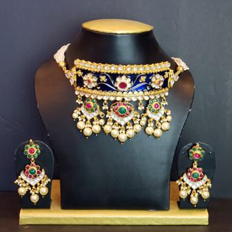 Rajastan Painted Necklace set