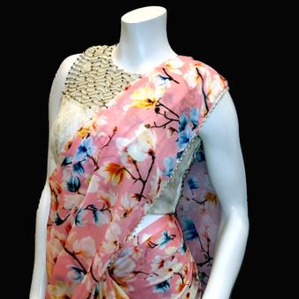 Floral Satin/ Georget Pink
