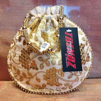 Embroidered.Purse Bottle Style