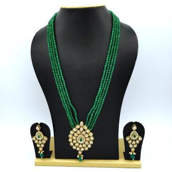 Kundan Neck set Green