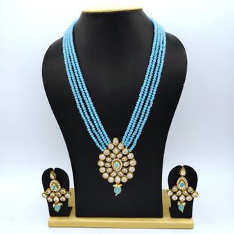 Kundan Neck set Sk blue