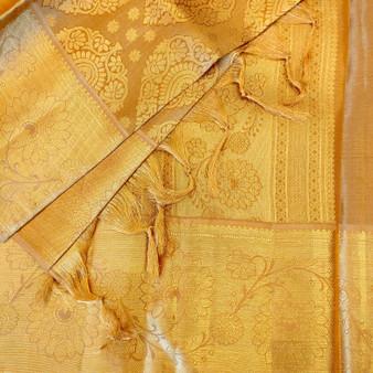 Kanchipuram Silk Gold Leaf