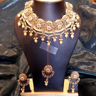 Mehndi yz  necklace set