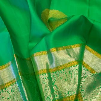 BR. Green Dual Jari  Kanchi