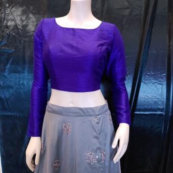 LS Blouse Raw silk