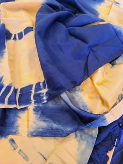 Tie Dye Navy Peach