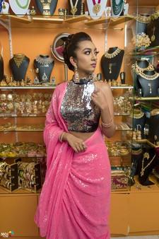 Sequins Saree Bollywood