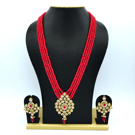 Kundan Neck set Ruby