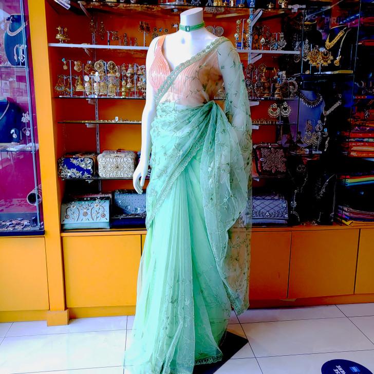 Net Emb. saree