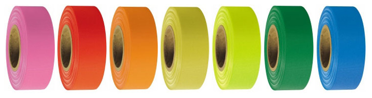 Roll Flagging - Surveyors Flagging Tape, Box of 12