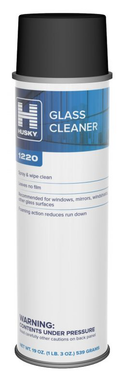 Husky 1220 Glass and CRT Cleaner | Case of 12 - 19 oz Cans
