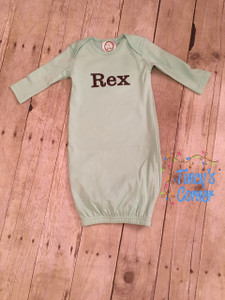 Unisex LS Infant Gown Mint