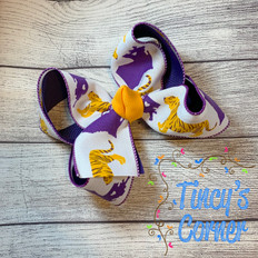 LSU Louisiana Boutique Hair Bow