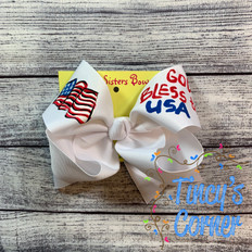 God Bless the USA Boutique Hair Bow