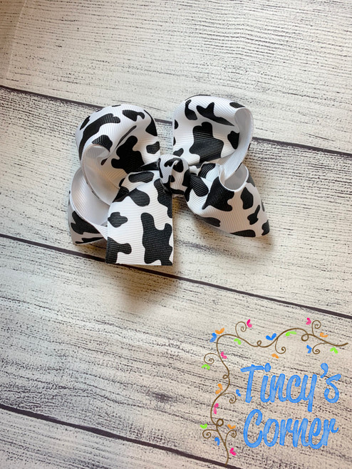 Cow Print2 Boutique Hair Bow