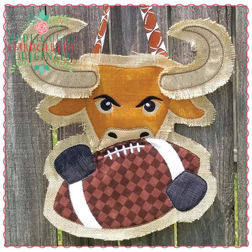 Longhorn Football Door Hanger X-Large