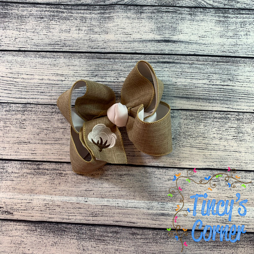 Cotton Boll Boutique Hair Bow